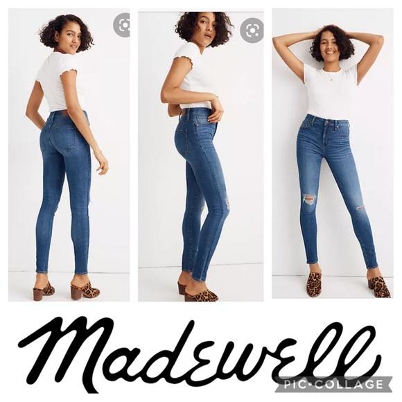 Madewell Curvy High Rise skinny crop jeans